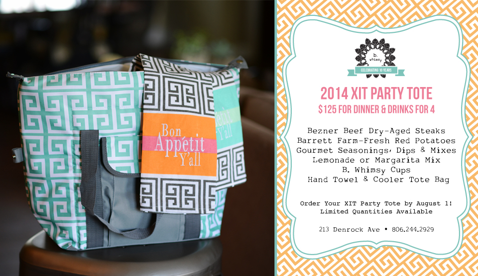 2014 XIT Party Tote