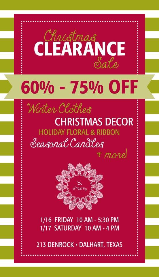 Christmas Sale at B. Whimsy