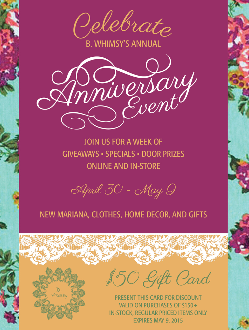 Anniversary Event by B. Whimsy