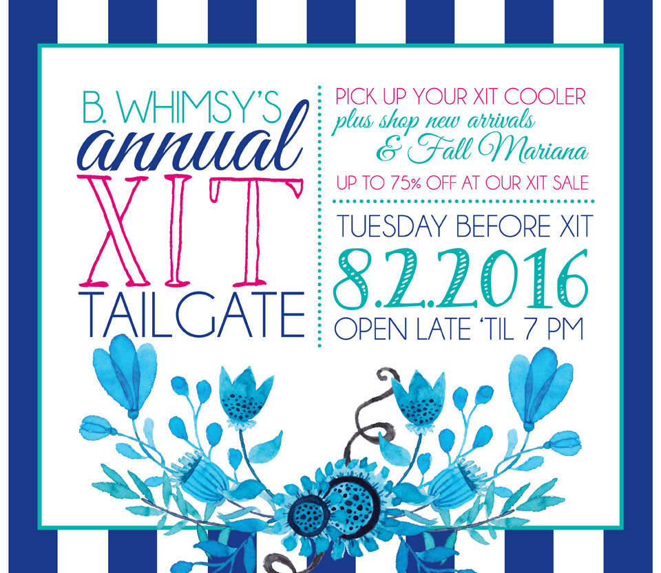 B. Whimsy :: XIT Tailgate